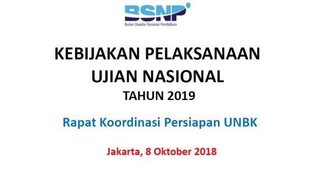 Kebijakan UN 2019